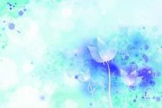 花背景图 兰色背景图 幻想 漂