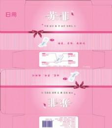 卫生巾 包装设计 日用 蝴蝶结