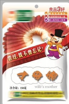 丈母娘腊肠香肠包装原创设计