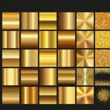 金色渐变几何亮片粒子背景矢量素