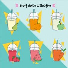 手绘卡通美味的果汁