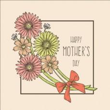 手繪母親節花束賀卡