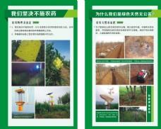 绿色农业展板
