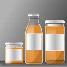 三款瓶装食品包装效果矢量