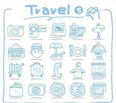 旅行日常手绘图案