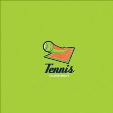 网球俱乐部比赛培训标志LOGO