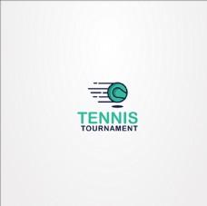 网球俱乐部比赛培训LOGO标志