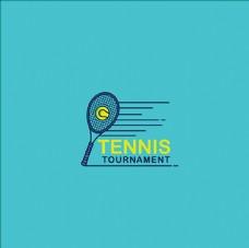 网球培训比赛俱乐部标志LOGO