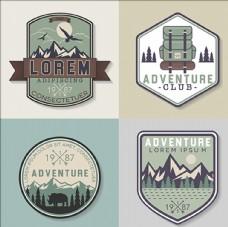 户外探险俱乐部标志LOGO