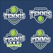 网球比赛培训俱乐部标志
