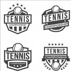 网球比赛培训俱乐LOGO部标志