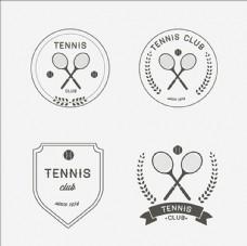 网球培训比赛俱乐部LOGO标志
