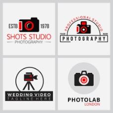 4个摄影标志logo设计