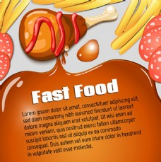 现代食物海报素材背景图