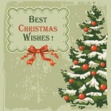 手绘圣诞树灰底背景