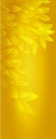 黄色树叶渐变背景