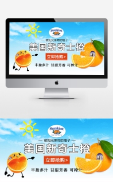 美国新奇士橙海报