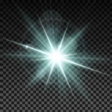白光闪光刺眼光效矢量素材
