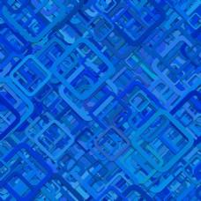 蓝色圆角矩形叠加图案背景