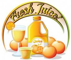 果汁背景素材