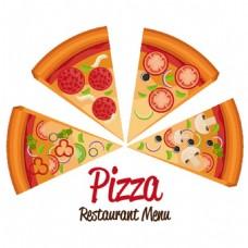美味披萨背景图