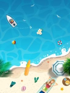 夏季沙滩度假背景