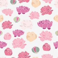 漂亮鲜花无缝背景图