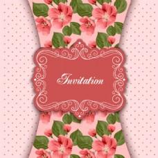 粉色植物背景