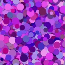 紫色调圆形叠加背景