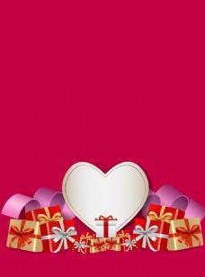 情人节心形礼盒背景