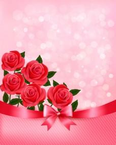 红色漂亮玫瑰花背景图
