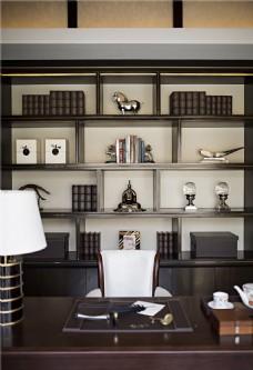 时尚书房书桌书柜设计图