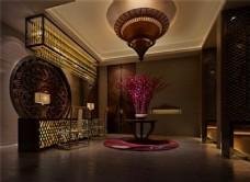 古典酒店大厅3D模型
