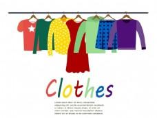 衣服促销海报