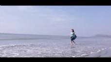 海滩风景人物视频素材