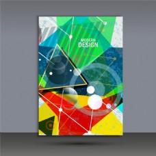 三角形画册封面图片