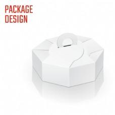 白色多边形纸盒图片