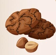 卡通巧克力饼干EPS