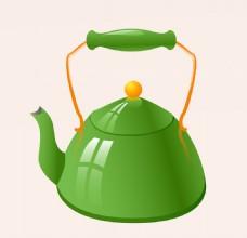 卡通实用茶壶EPS