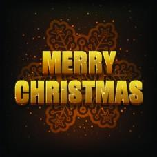 金色3d圣诞节精美卡通矢量海报素材文件