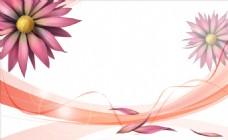 清新粉色花朵背景