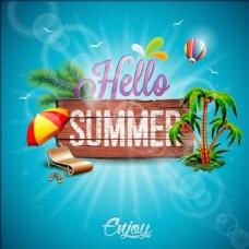 夏天假期广告背景