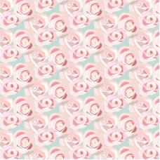 粉红玫瑰装饰图案背景