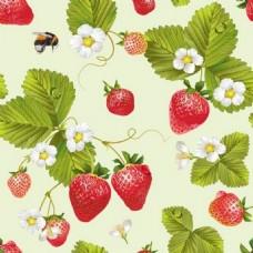 草莓背景素材