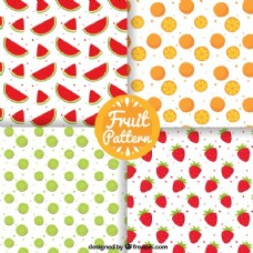 四种手绘水果包装