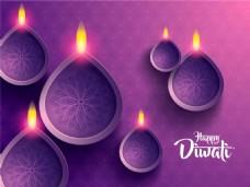排灯节紫色背景图片