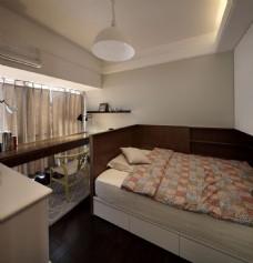 现代简约卧室大床设计图