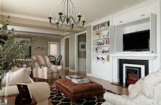 美式简约家居客厅装修效果图