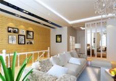 简约客厅模型设计