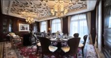 豪华餐厅吊顶设计图